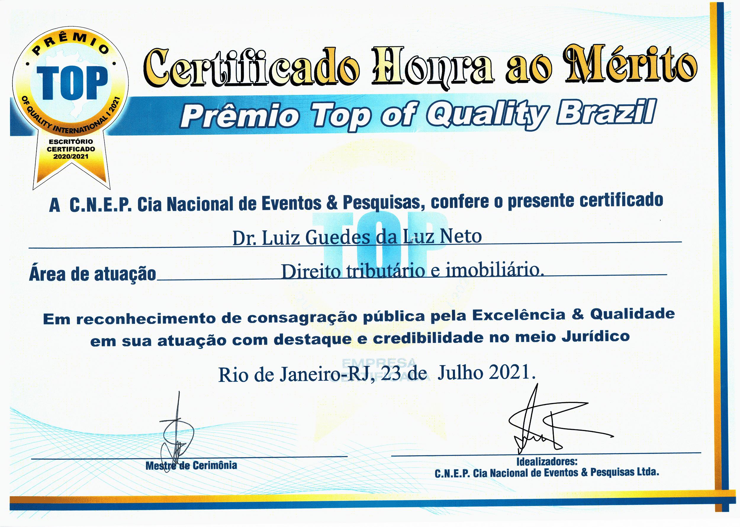 Prêmio Top of Quality Brazil